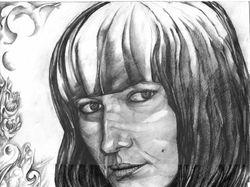 рисунок девушки 3