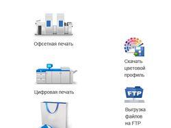 Иконки для сайта типографии.