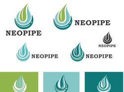 Одноцветный векторный логотип для компании