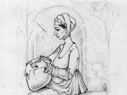 женщина с вазой