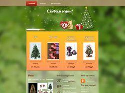 Сайт-каталог новогодних товаров