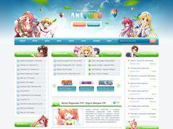 Дизайн сайта тематики Аниме