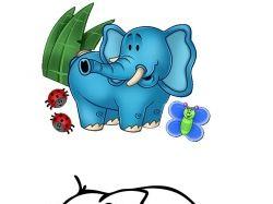 Концепция детского слоника
