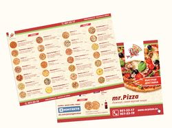 Буклет для пицерии Mr.Pizza
