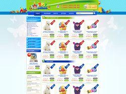 """Дизайн для сайта  """"Toy Palace"""""""
