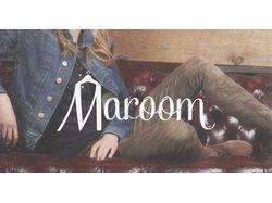 """Лого питерского шоурума """"Maroom""""."""