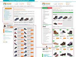 Создание концепции и дизайна ленты товаров и меню