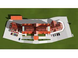 Гостиничный комплекс в  Закарпатье. Вид сверху