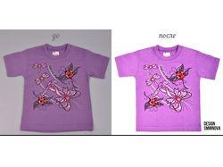 Обработка фото: Одежда (футболка)