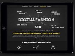 Дизайн сайта для студии