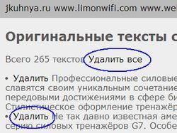 Инструмент удаления оригинальных текстов Яндекса