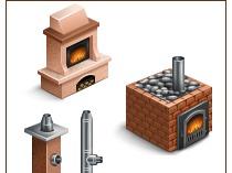 Иконки для firecom.pro (печи, камины, дымоходы)