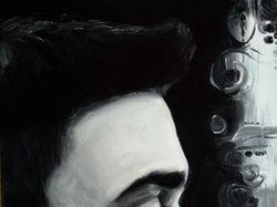 Портрет черно-белый