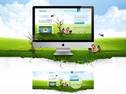 Сайт для фирмы креативных дизайнов