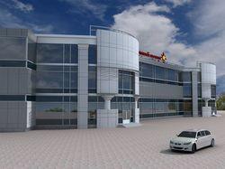 Торговый центр с автостоянкой на 100 авто