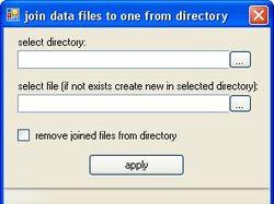 склеивание всех файлов к каталоге в один
