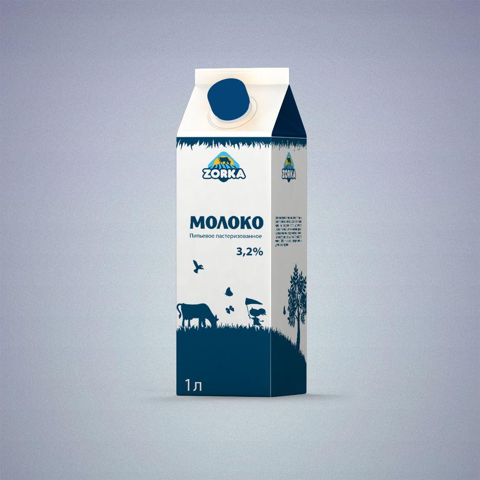 Картинка на упаковку молока