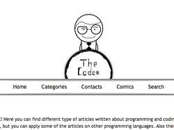 Дизайн и верстка шаблона для сайта The Coder