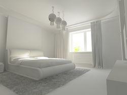 Визуализация простенькой спальни