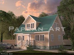 3д визуализация домов из бруса