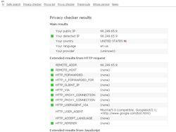 Проверка настроек аннонимности браузера