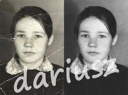 Реставрация старых фотографий, замена фона, ретушь