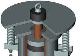 Модель линейного синхронного двигателя (вибратора)