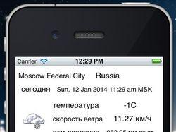 Yahoo-погода(IOS)