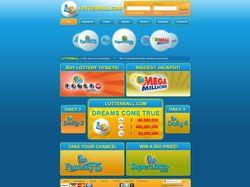 Дизайн сайта лотереи