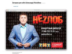 Заглушка для сайта Александра Незлобина