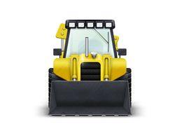 Трактор строительному сайту
