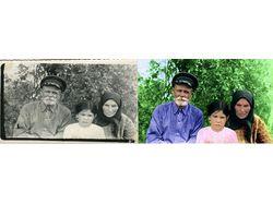 Восстановление и колорирование старой фотографии