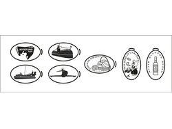 Макеты для изготовления жетонов