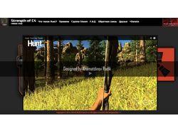 Сайт игрового сервера Rust