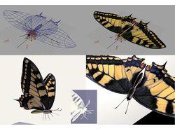 3д бабочка