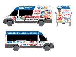 Реклама и-магазина ОЛДИ на маршрутках