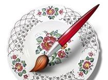 Расписываем тарелочку
