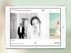 Адаптивный сайт свадебного фотографа