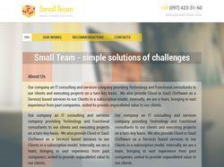 Сайт команды веб-разработчиков.