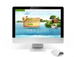 Дизайн сайта базы отдыха
