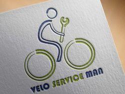 Логотип веломастерской Velo Service Man