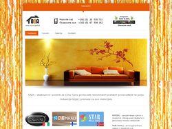Сайт для салона декоративных отделочных материалов