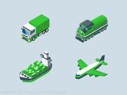 Иконки грузовой техники