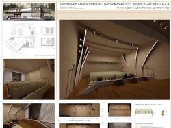 Интерьер многофункционального зрительного зала