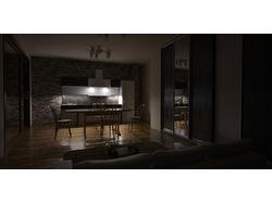 Интерьер подсветка кухни