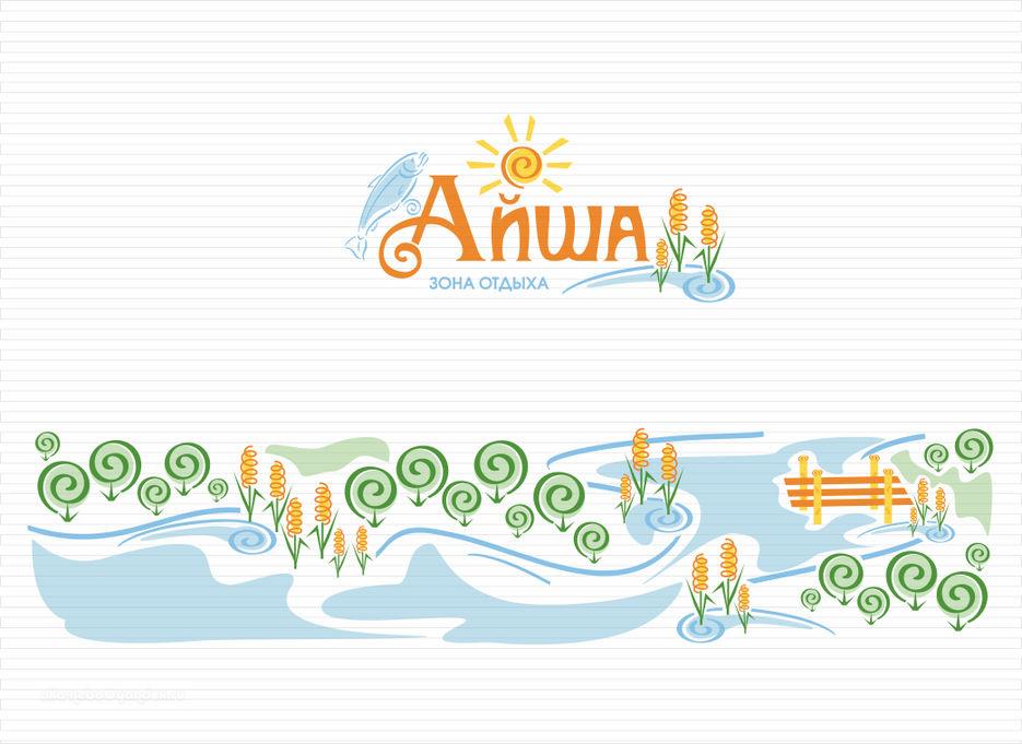 Логотип и рисунок в footer.