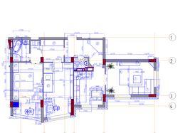 Планировка для дизайна интерьера квартиры