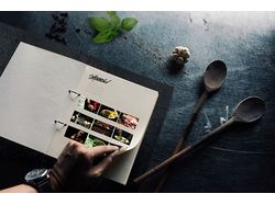 Поиск и отрисовка концепта меню ресторана