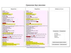 Анализатор текстов (HTML, JS)