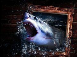 3д-акула.
